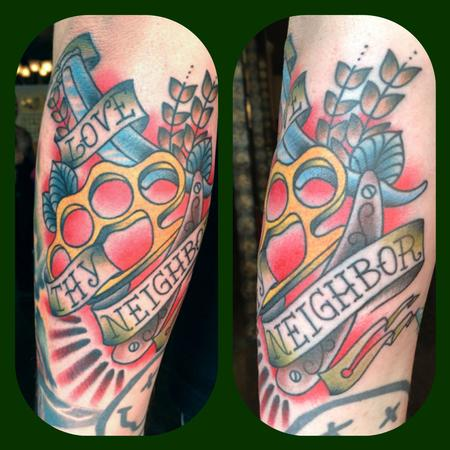 Traditional Love Tattoo on Map Tattoo   Tattoos   Diego   Love Thy Neighbor Traditional Tattoo