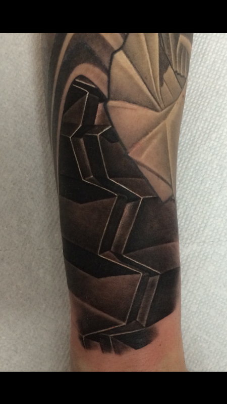 Tattoos - Black and Gray abstract Tattoo - 119191