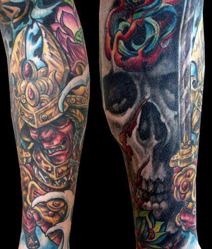 skull sleeve tattoos. skull sleeve tattoos. and