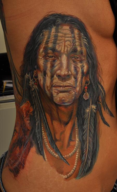 Worlds Best Tattoos Dmitriy Samohin Indian Chief Tattoo