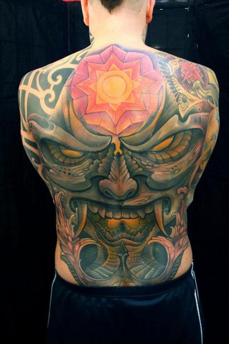 Demon Back Piece  Tattoo Design Thumbnail