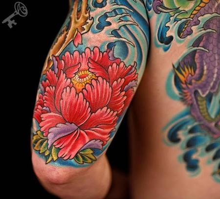 Tattoos - Colored Flower Tattoo (#2) - 115642