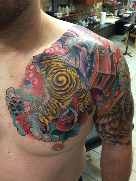 Tattoos - TIGER AND GRAMAPHONE - 110055
