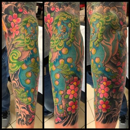 Dustin Golden - FOO DOG AND BLOSSOMS