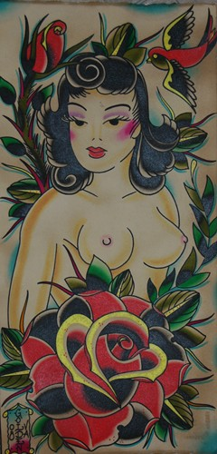 Dustin Golden - SAILOR JERRY GIRL AND ROSE