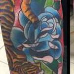 Tattoos - TIGER AND ROSES - 110056