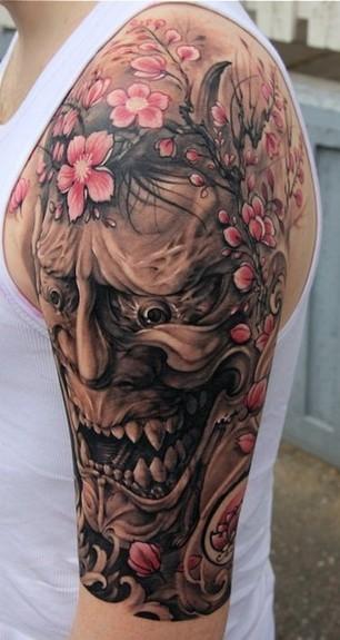Hanya Mask Tattoo : Tattoos :