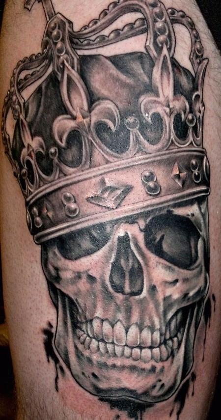Crowned Skull By Pedro VI TattooNOW