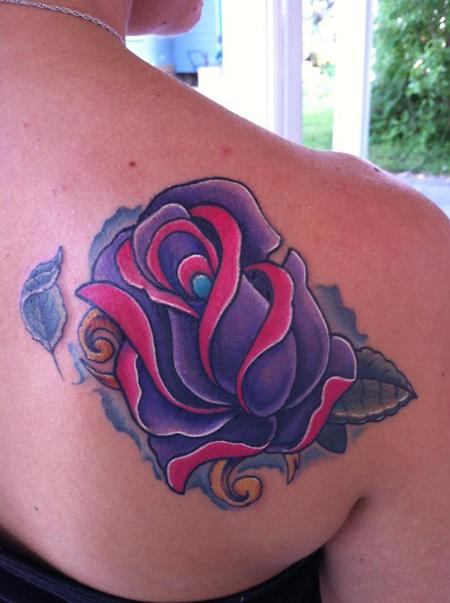 Tattoo Purple Flowers Pictures to Pin on Pinterest ...