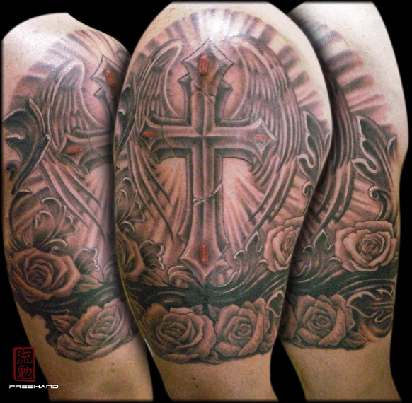 tribal armband cover up by eddie loven tattoonow. Black Bedroom Furniture Sets. Home Design Ideas