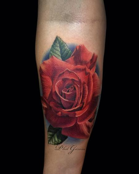 Tattoos - red rose tattoo - 119503