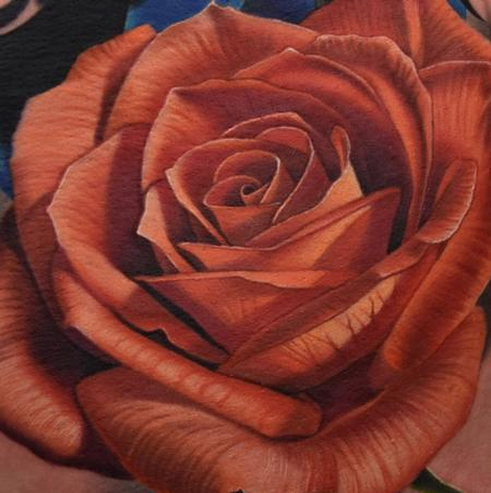 Phil Garcia - Red Rose tattoo