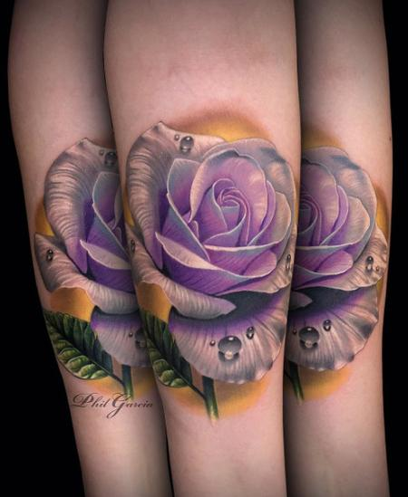color rose tattoo Design Thumbnail