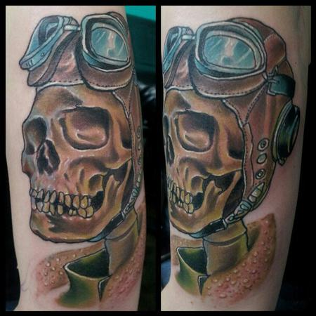 Aviation Skull Tattoo Design Thumbnail