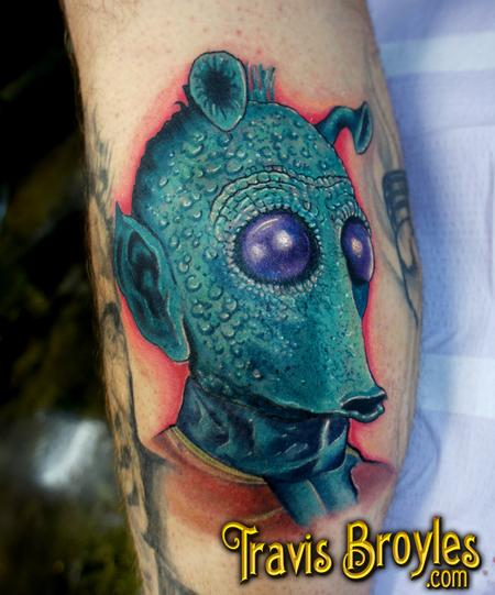 Travis Broyles - Han shot first! - Greedo Tattoo