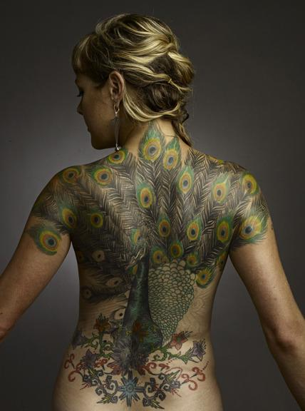 Peacock back piece. Tattoo Design