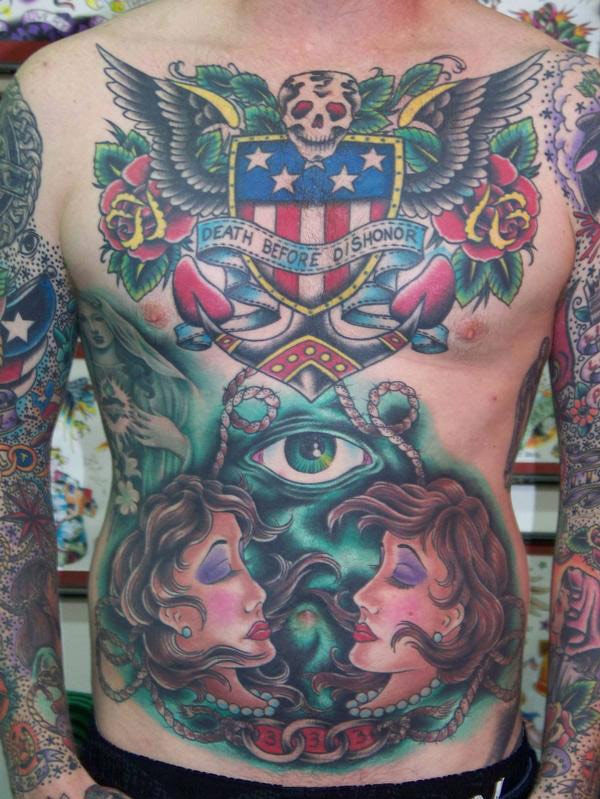 Oliver Peck Tattoos Gallery Death before Dishonor ...
