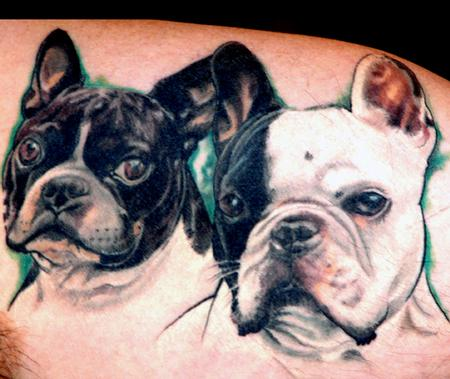 Tommy Helm - Color Dog Portraits Tattoo
