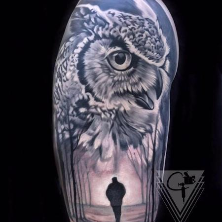 Tattoos - Owl Tattoo - 131781