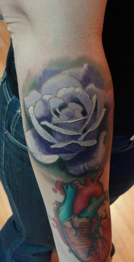 Tattoos - rose arm tattoo - 72927