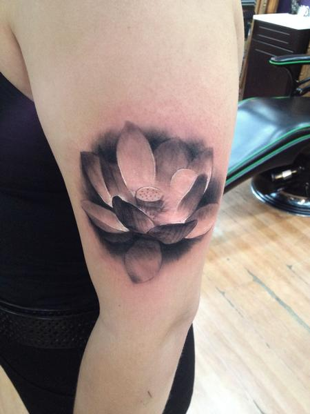 lotusonarm Tattoo Design