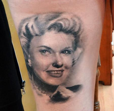 Tattoos - Doris Day (healed) - 84301