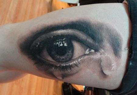 eyebll tattoo on thigh Tattoo Design Thumbnail
