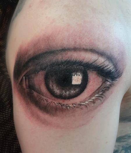 Tattoos - eyeball tattoo - 78922