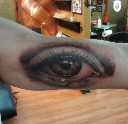 eyeball tattoo on arm Tattoo Design Thumbnail