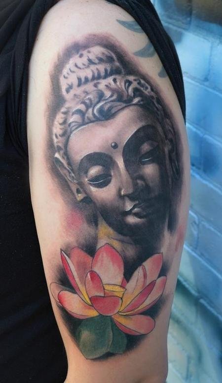 Tattoos - Buddha and lotus - 80771