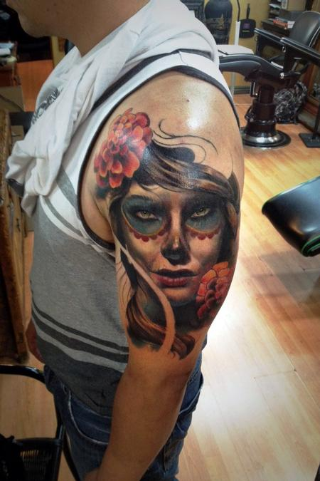 Tattoos - Day of the Dead woman - 104007