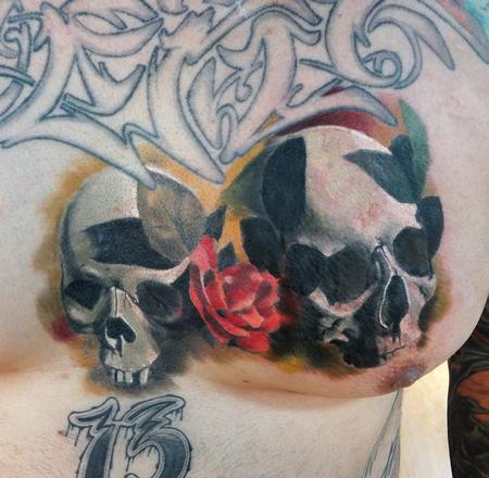 Tattoos - chest skull - 87070