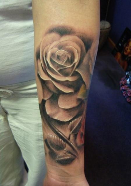 Tattoos - Rose tattoos on ribs - 78653