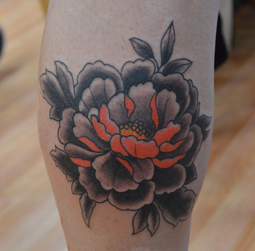 Peony Flower Tattoo: Off The Map Tattoo : Tattoos : Ian Robert McKown