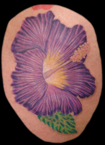 Tattoos - Original Art tattoos - Purple Hibiscus