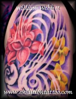 Flowers by billy webb ii tattoonow for Evolution tattoo studio