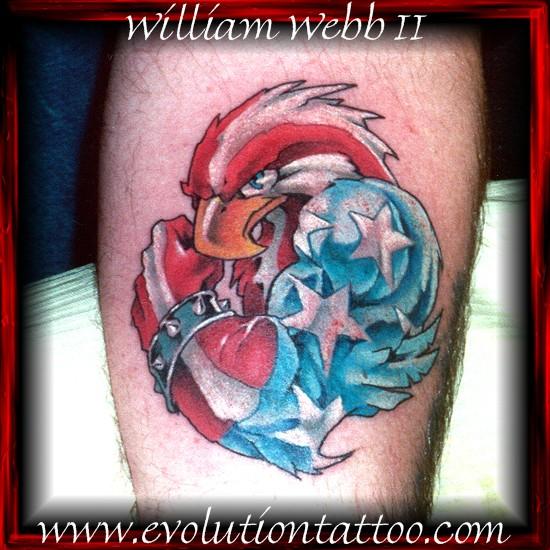 American eagle by billy webb ii tattoonow for Evolution tattoo studio