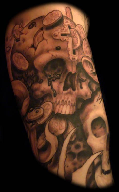 Seven deadly sins sleeve greed by orrin hurley tattoonow for Seven sins tattoo