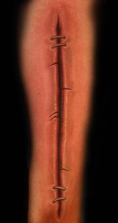 Orrin hurley forearm cut for Cut off tattoo