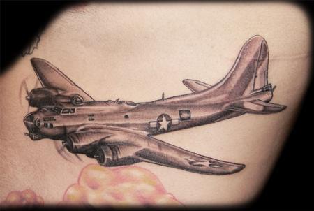B17 Bomber Tattoo Bomber  B17 Bomber Tattoo