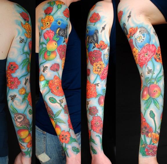 Poppy Sleeve Tattoo