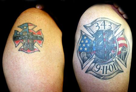 Tattoos - 9-11 Memorial Coverup Color Tattoo - 57454