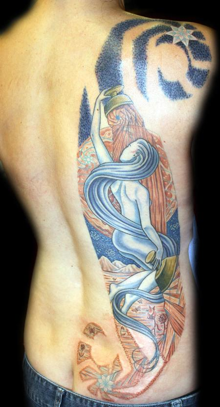Tattoos - color star tarot tattoo - 56658