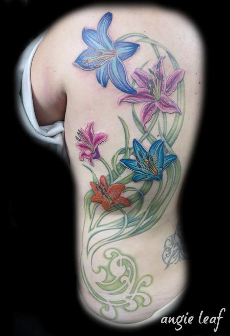 Tattoos - Floral Color - 124984