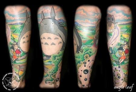 Angela Leaf - My Neighbor Totoro tattoo