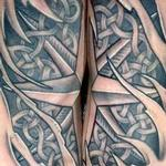 Tattoos - Black and Grey Celtic Compass Foot Tattoo - 115797