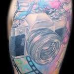 Tattoos - Classic camera watercolor tattoo - 107875