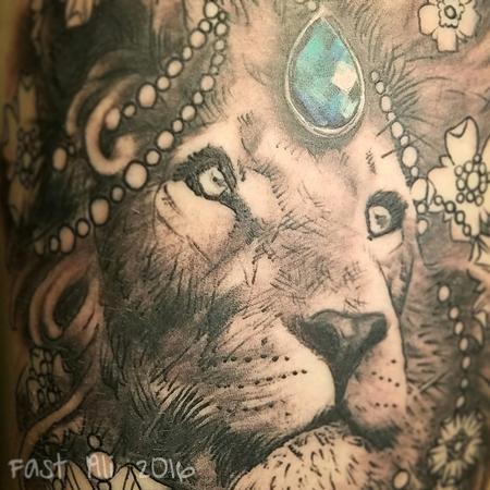 Tattoos - Bedazzled Lion - 126259