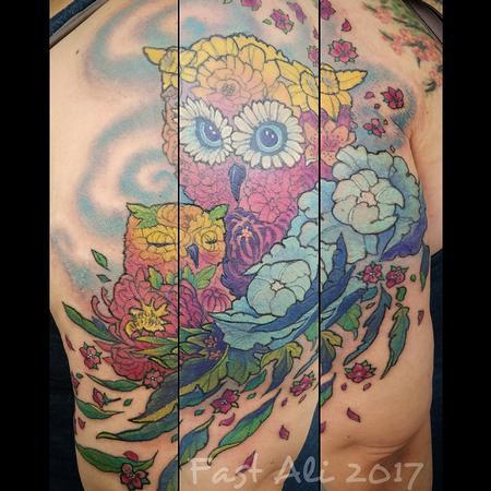 Flowls Tattoo Design