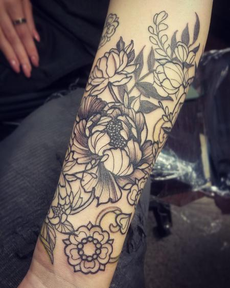 Alex Flowers Tattoo Design